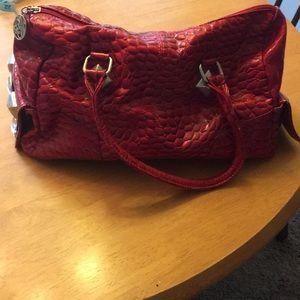 White House Black Market red handbag